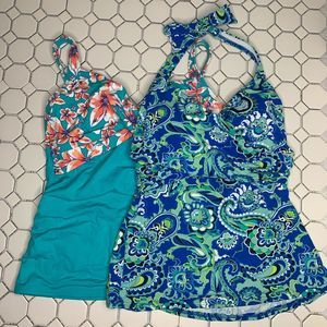 Lands' End tankini size 8 lot of 2